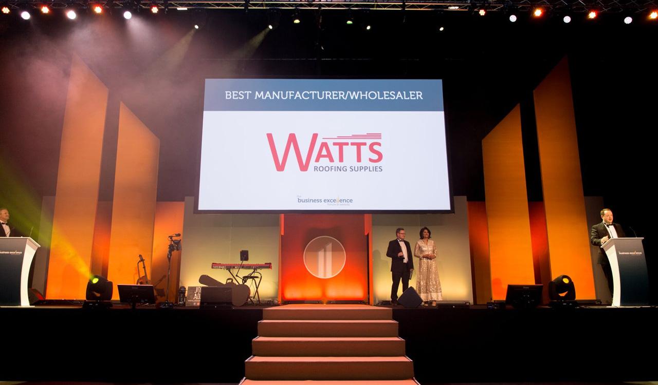 We Won Best Manufacturer Wholesaler Watts Roofing Supplies