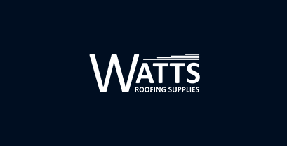 Watts Roofing Supplies logo inverted