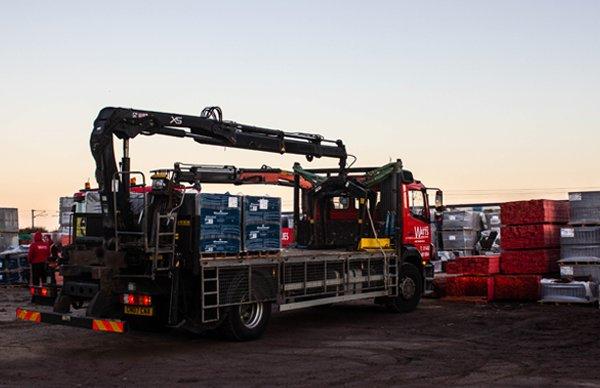 A Picking Truck at Watts Roofing Supplies in Baldock, Hertfordshire, United Kingdom
