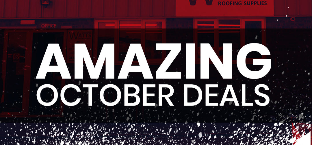 2020 October Deals on Roofing Materials